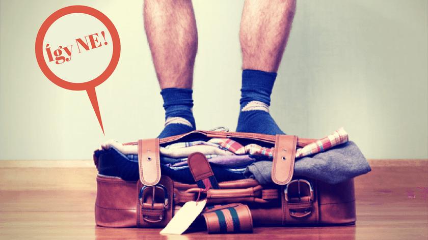 utazás: rossz öv pakolás bőrönbe