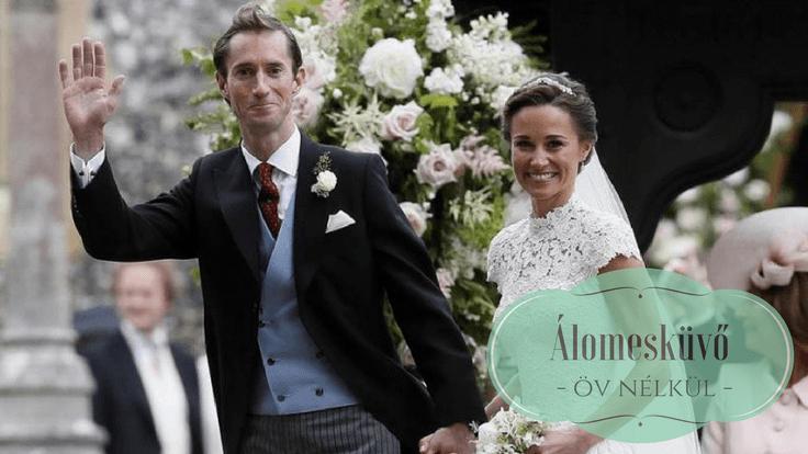 Pippa királyi esküvő öv nélkül