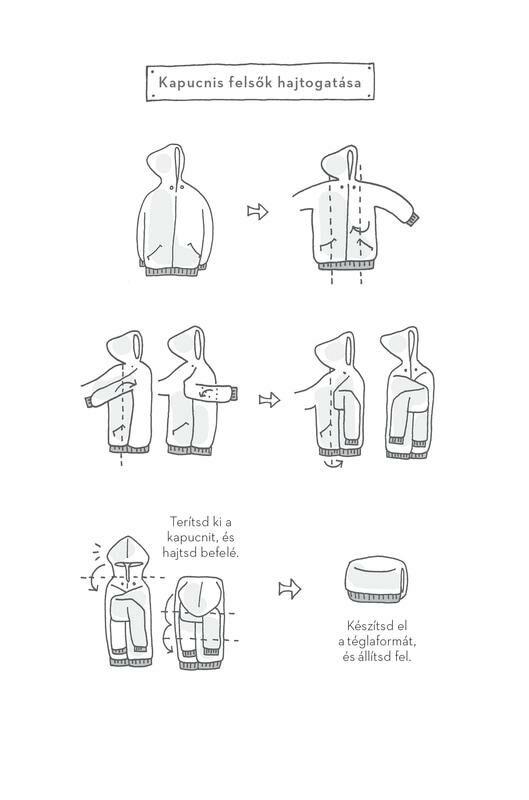 Kapucnis pulóver hajtogatás