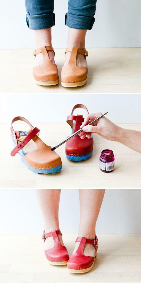 kopott bőr cipő felújítás házilag