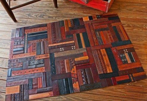Lakásdekorációs ötletek - szőnyeg bőrből