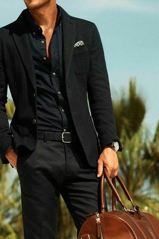 elegáns fekete férfi divat