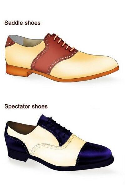 Al Capone stílusú cipő - spectator