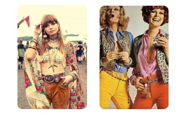 Hippi stílusú nők
