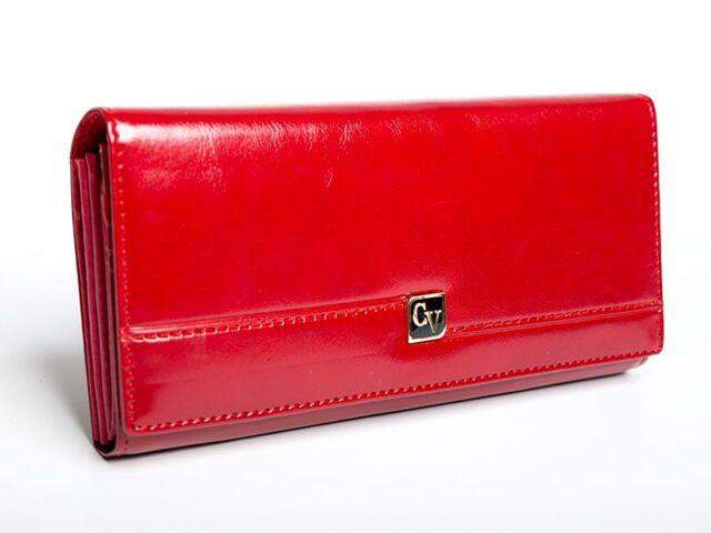 Cavaldi női bőr pénztárca - piros | P24