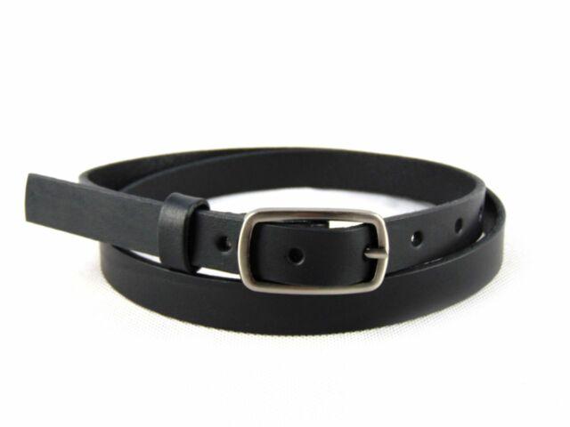 Valódi bőr vékony női nadrágszíj - fekete   CM-F2501