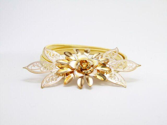 Virágos arany női öv