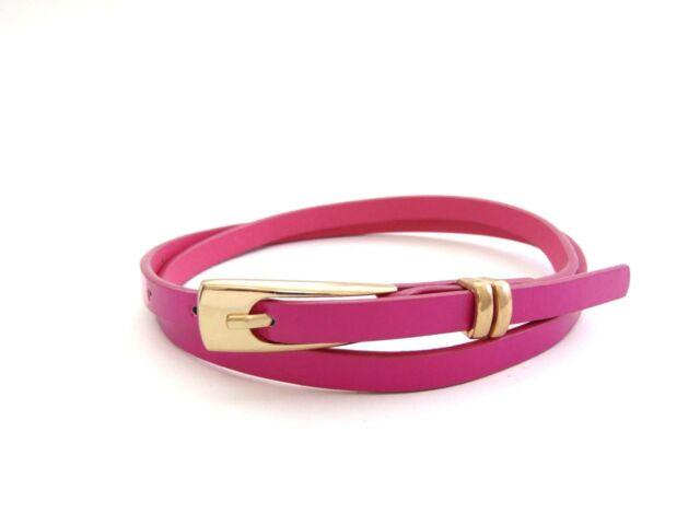 Vékony női divat öv - pink