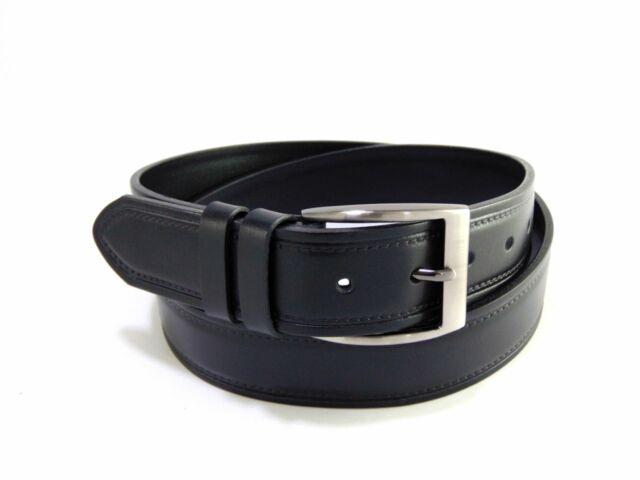 Gabrillo bőr férfi nadrágszíj mintás - fekete | A136