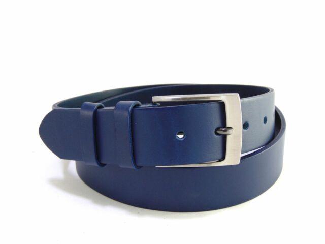 Extra hosszú 100% bőr férfi öv 135cm-ig - kék | B10362