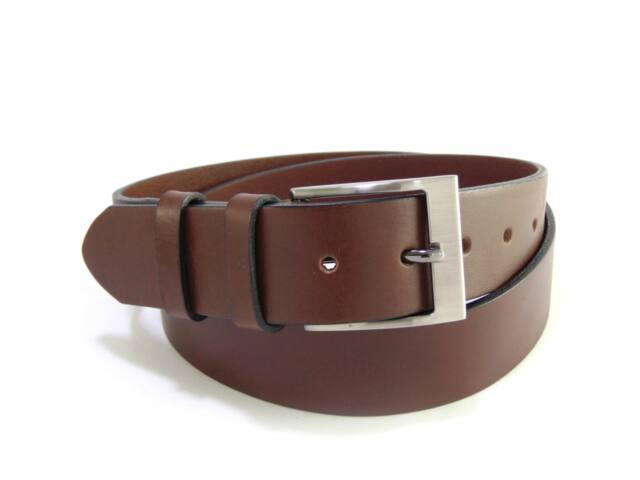 Extra hosszú - Magas Minőségű, 100% bőr férfi öv 165cm-ig - barna | FSZ4002
