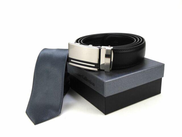 Hasznos Ajándék Férfiaknak - Acélszürke Slim Nyakkendő + racsnis öv | SGRY01-18100