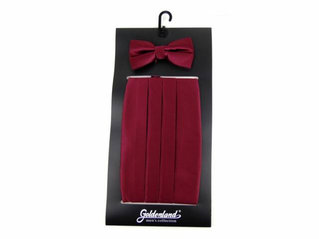 Spanyol öv csokornyakkendővel - bordó | 828CLA