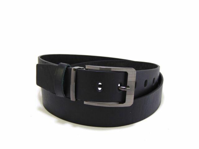 Férfi bőr nadrágszíj - fekete   231-13