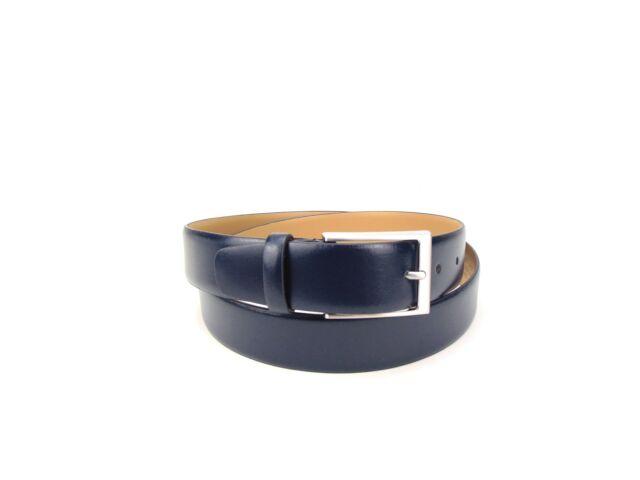 Smart casual valódi bőr öv - navy kék   5941