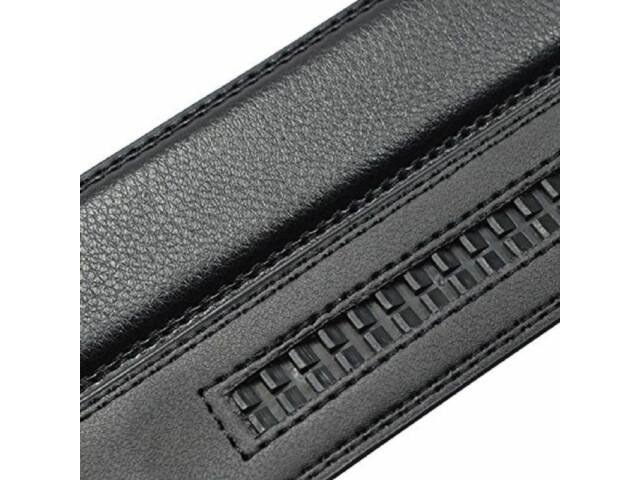 3cm-es műbőr nadrágszíj automata övcsathoz - fekete