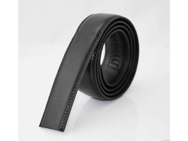 3,5cm-es műbőr nadrágszíj automata övcsathoz - fekete