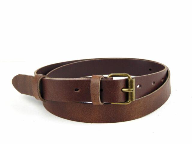 Vékony, bőr legénységi derékszíj nagyméretű 145 cm-ig - barna | M01