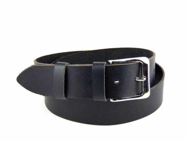Férfi marhabőr öv - fekete   F01