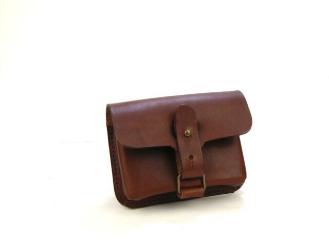 Bőr lőszertartó táska - 10db-os golyós - barna | LT38