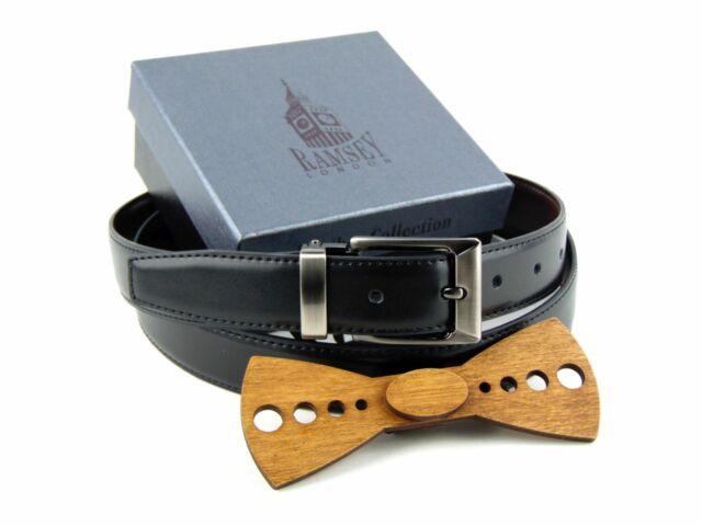 Ajándék ötlet férfiaknak - Fa csokornyakkendő & öltöny öv szettben   ZS001-YD003
