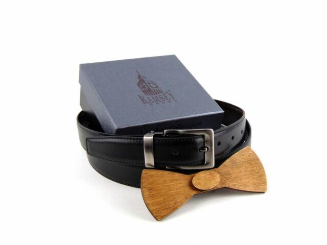 Ajándék férfiaknak - Fa csokornyakkendő & öltöny öv szettben | ZS002-R002