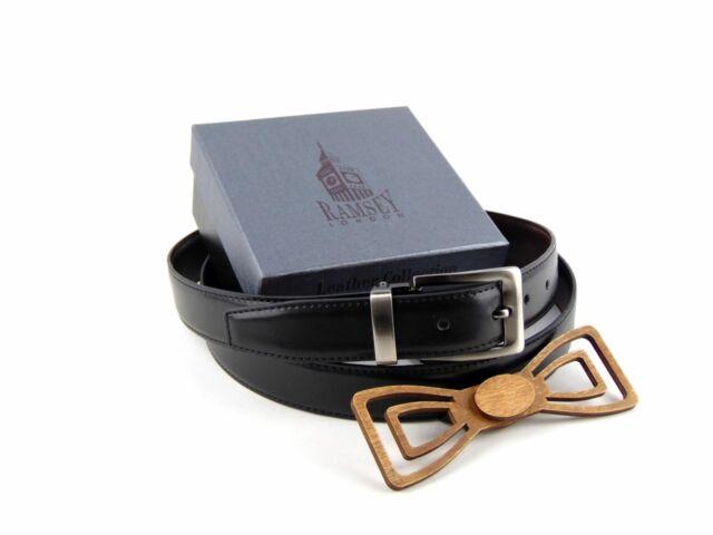 Férfi ajándék ötlet - Fa csokornyakkendő & öltöny öv csomagban | ZS006-R002