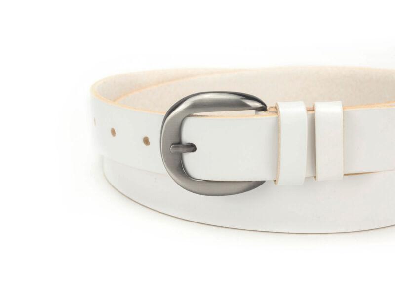 Női marhabőr deréköv  - fehér   D3001