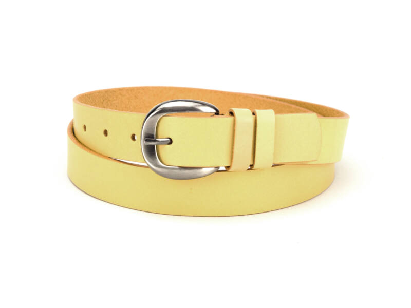 Női marhabőr deréköv  - vanília sárga   D3001