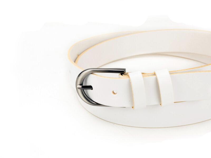 CezMar női bőr nadrágszíj - fehér | D3002