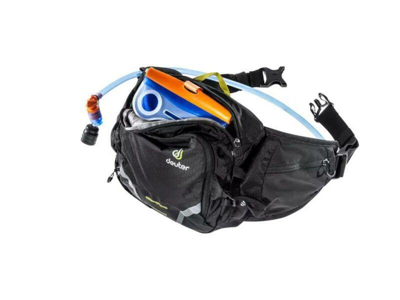 Deuter Pulse 3 sport övtáska + Streamer 1.5 L ivótasak - fekete | 3935219