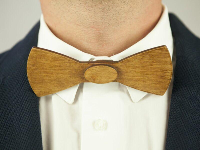 Ajándék férfiaknak - Fa csokornyakkendő & öltöny öv szettben | ZS002-R006