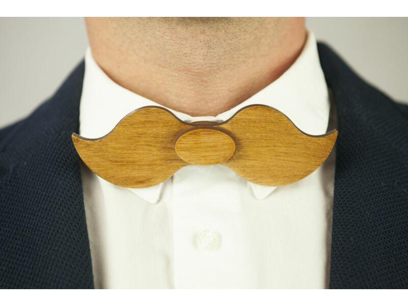 Ajándék ötlet férfiaknak - Fa csokornyakkendő & öltöny öv szettben | ZS003-R006