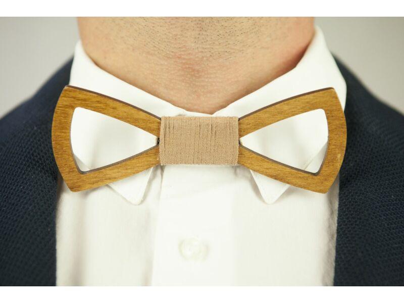 Meglepetés férfiaknak - Fa csokornyakkendő & öltöny öv csomagban | ZS005-R002
