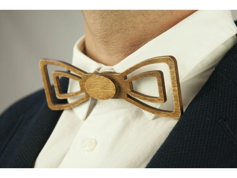 Férfi ajándék ötlet - Fa csokornyakkendő & öltöny öv csomagban   ZS006-R002