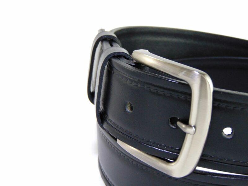 Bőr nadrág öv mintás - fekete | B10364