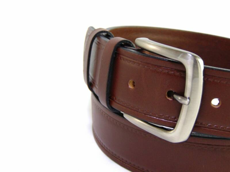 Gabrillo Bőr férfi nadrág öv mintás - barna | B10364