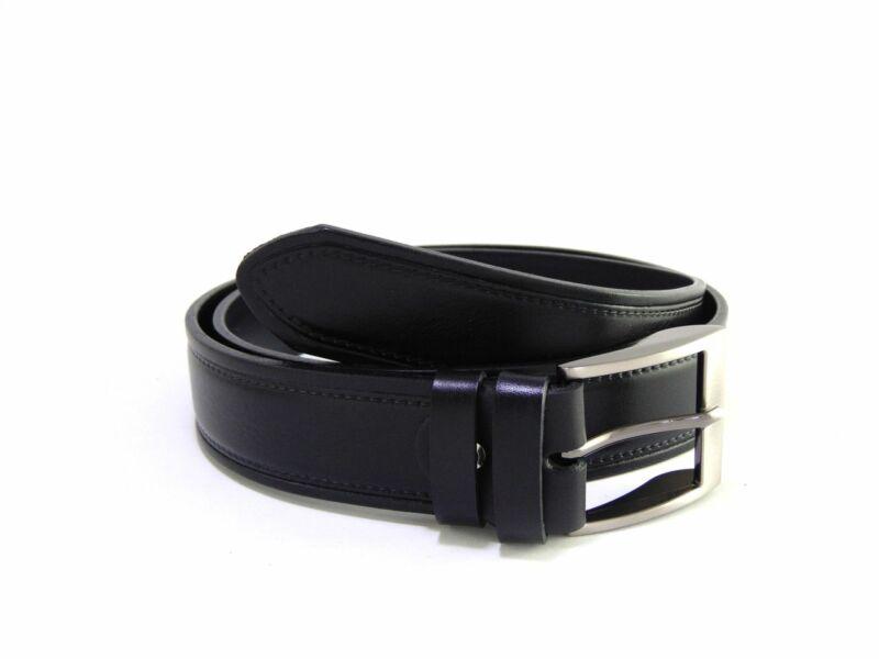 Valódi bőrből mintás nadrágszíj - fekete   FSZ4002