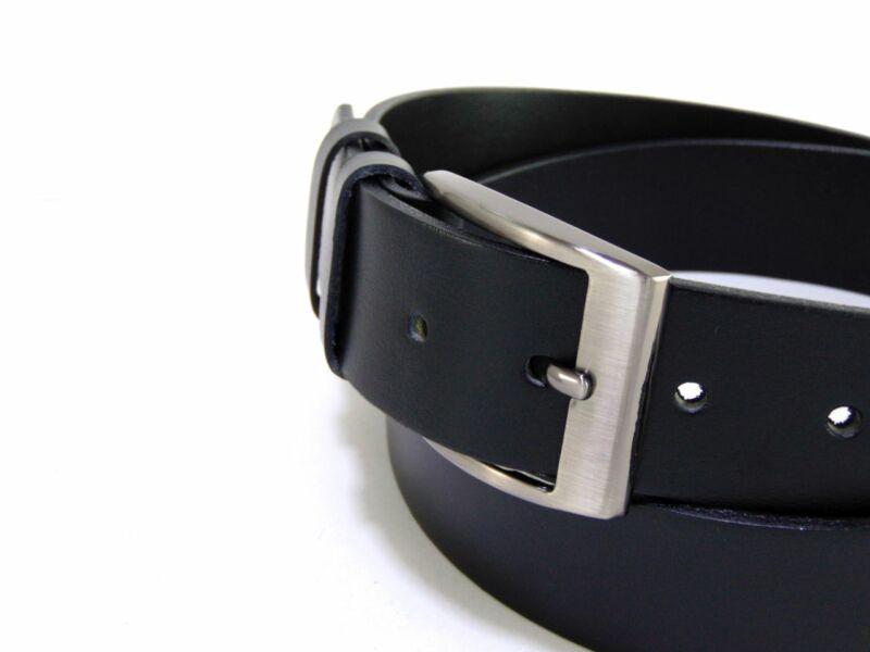 Gabrillo bőr férfi nadrágszíj - fekete | A136