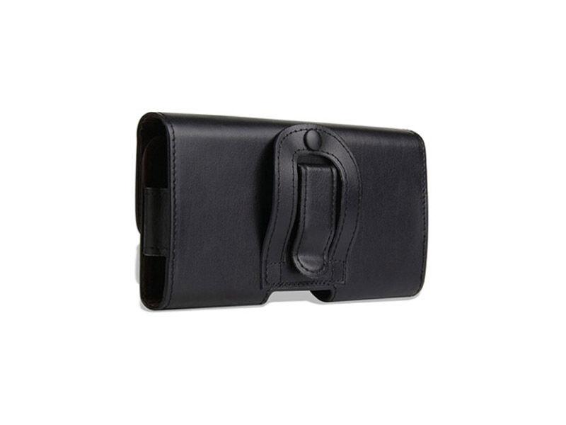 "Bőr telefontok övre (max. 5.1"") - fekete | 79825"