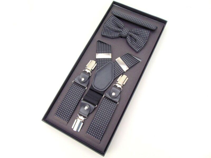 Nadrágtartó szett - aprómintás fekete  | GOL1186