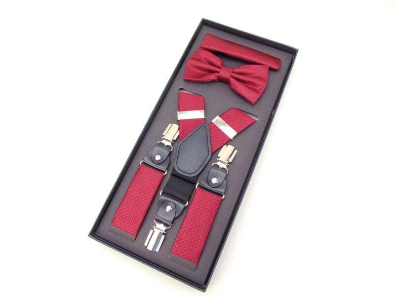 Nadrágtartó szett - aprómintás piros  | GOL1191