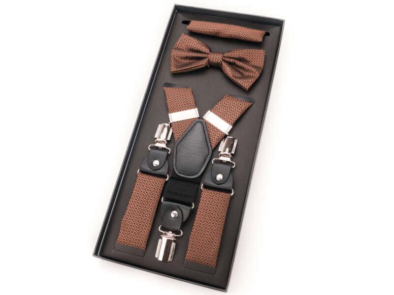 Nadrágtartó összeállítás - aprómintás csokibarna  | 136