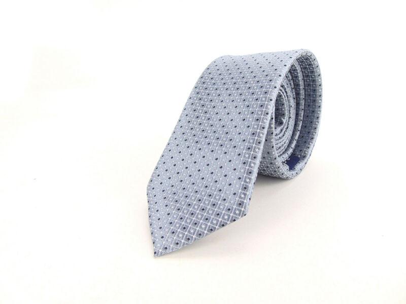 Slim Nyakkendő aprómintás - ezüstkék | 21-14