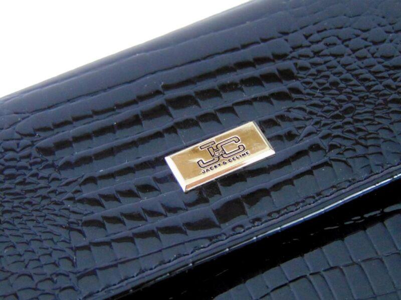 J&C női pénztárca lakk fekete | J11-018