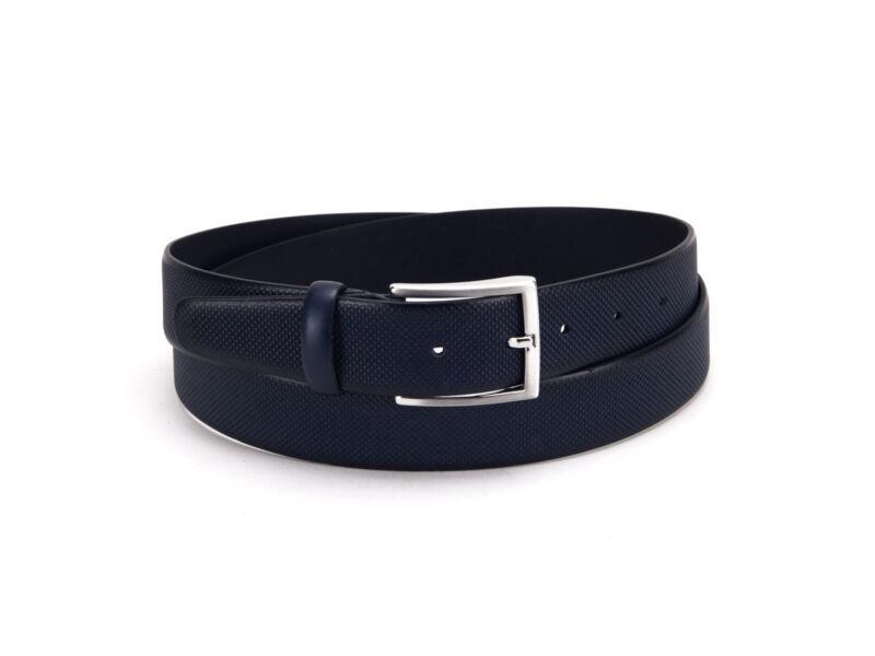 Divatos férfi bőr öv - navy kék   392