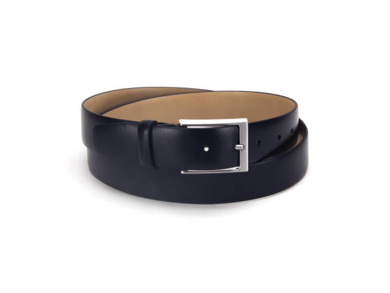 Smart casual valódi bőr öv Extra nagy - fekete   5941