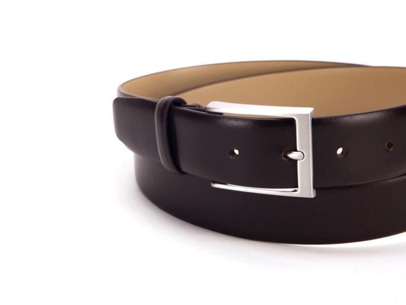 Smart casual valódi bőr öv Extra nagy 170cm-ig - sötétbarna | 5941