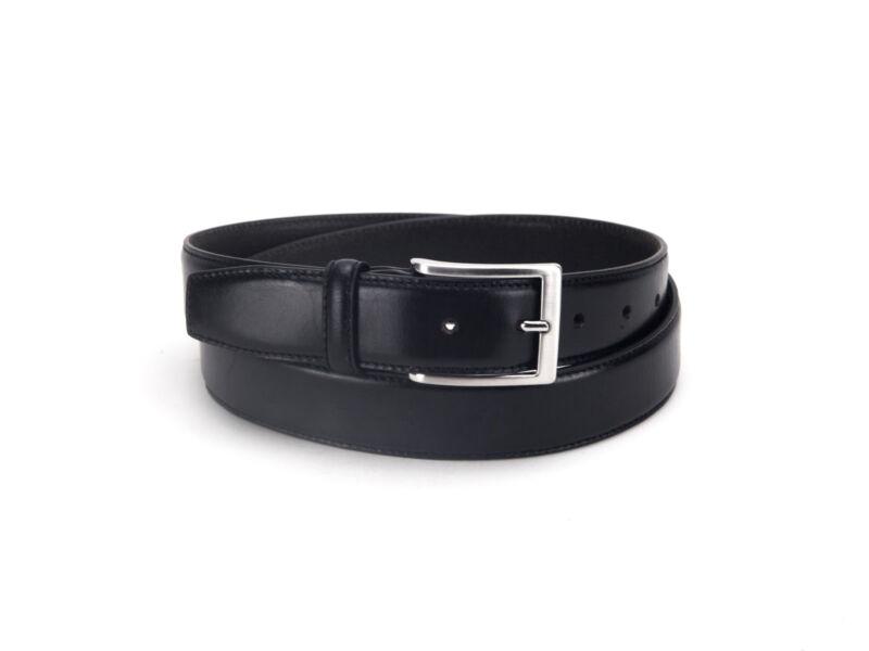 Prémium minőségű smart casual férfi bőr öv - fekete   378