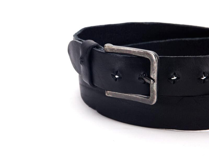 Rusztikus TOP minőségi bőr öv - fekete | 95021